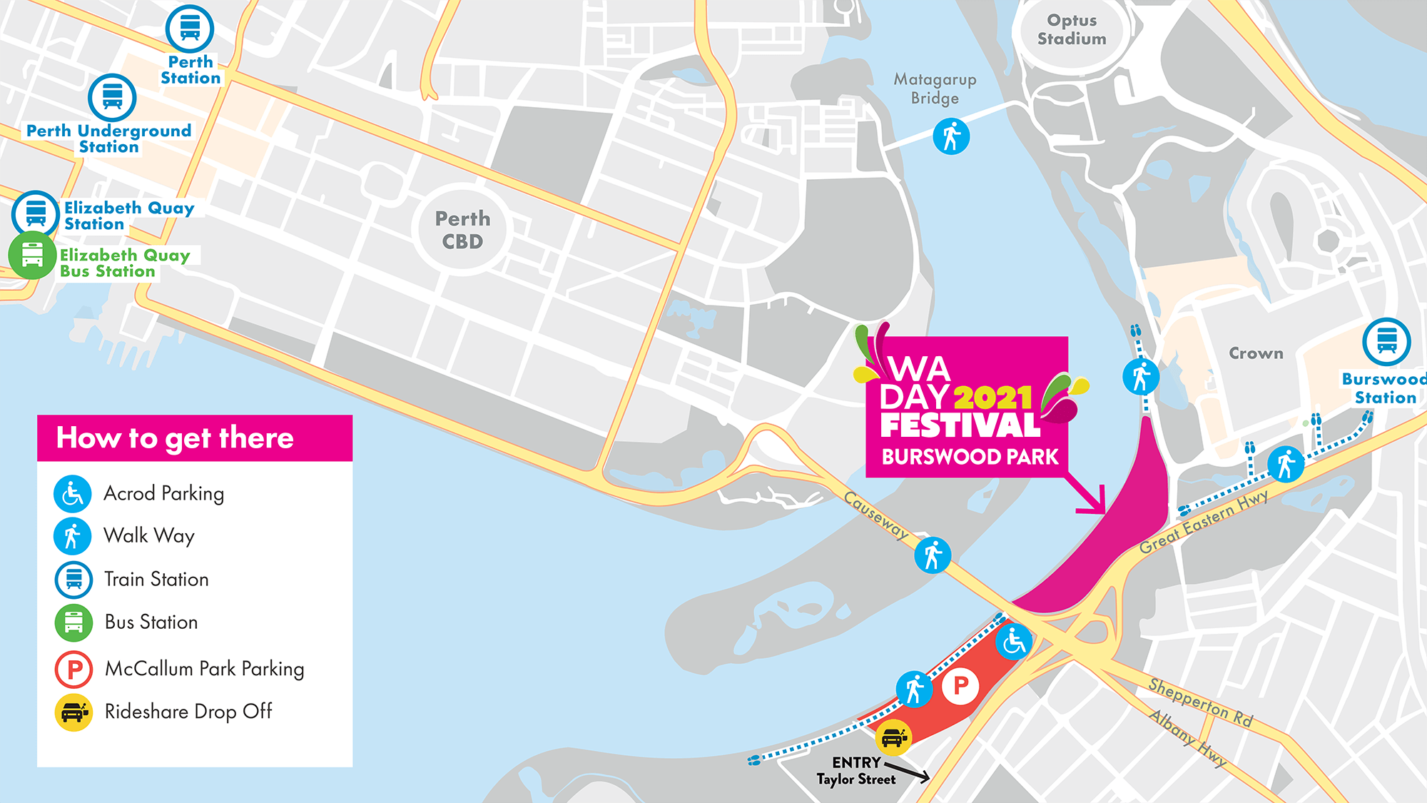 WA Day Festival 2021 - How to get there