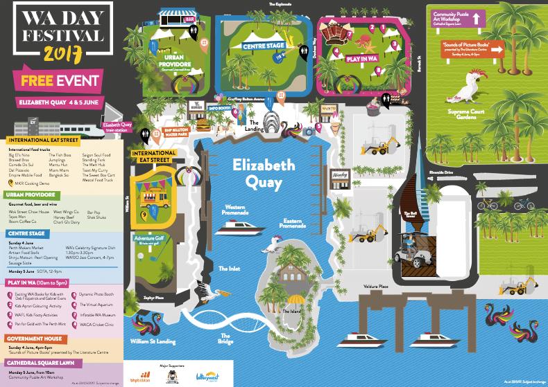 Elizabeth Quay Event Map Celebrate WA